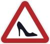"""Наклейка знак """"Дама за рулём"""" """"Туфелька"""" 16х16 agznak15"""